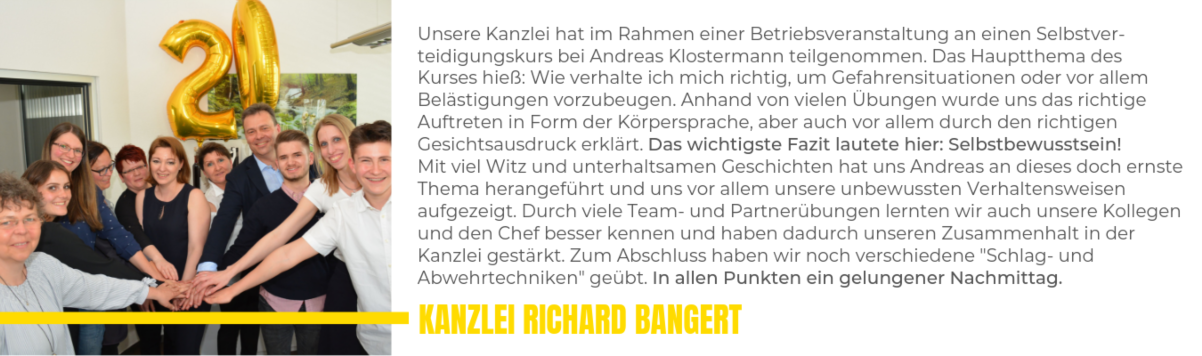 WingTsun Referenz Kanzlei Richard Bangert